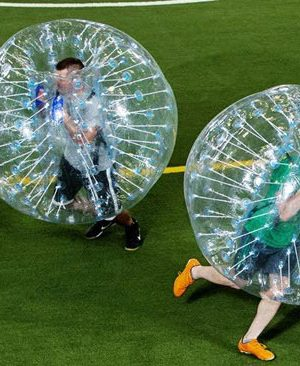 home slider of bubble soccer