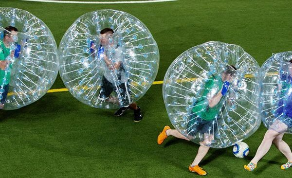 home slider of bubble soccer